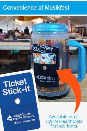 Musikfest Ticket Stick-it