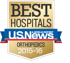 US News badge national orthopedics 2015