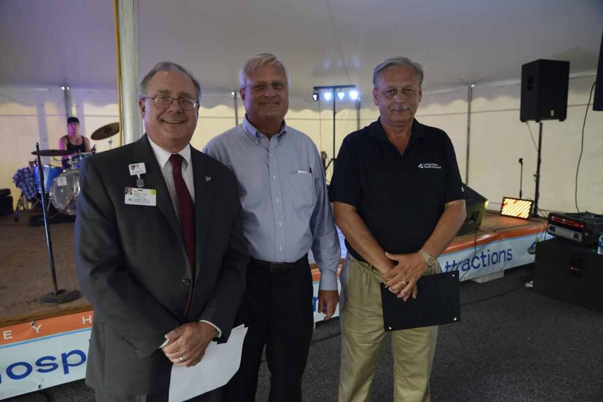 Opening ceremonies of the 54th Annual Muhlenberg Summer Festival presented by (L-R) 