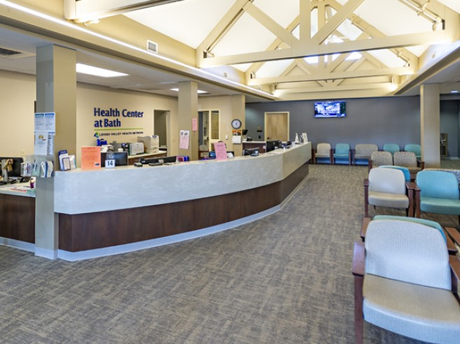 Welcome desk, Health Center at Bath