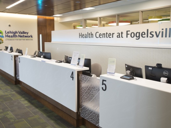 Welcome desk, Health Center at Fogelsville