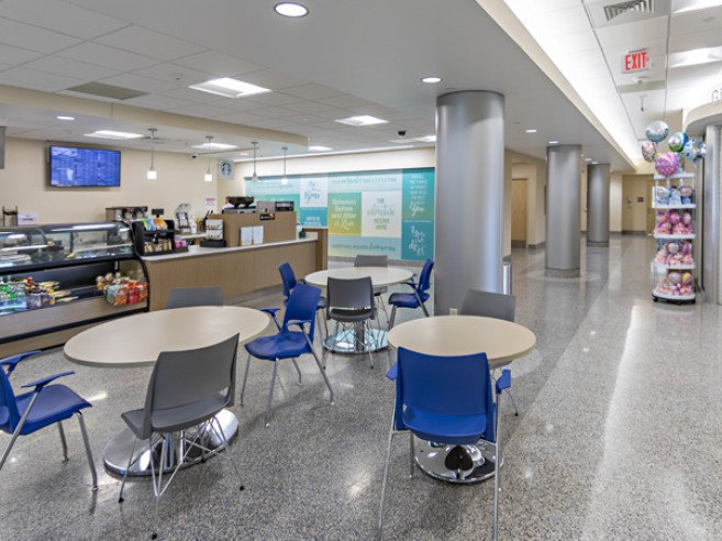 Family Health Pavilion café, located on the first floor at Lehigh Valley Hospital–Muhlenberg (south entrance)
