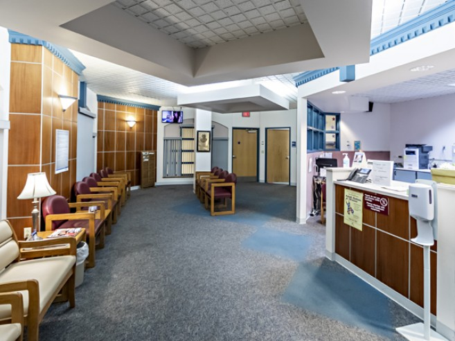 Outpatient surgery waiting area at Lehigh Valley Hospital–Schuylkill E. Norwegian Street
