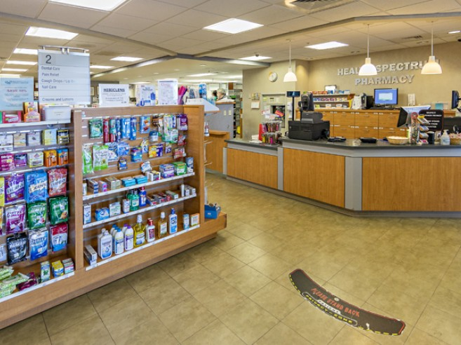 Health Spectrum Pharmacy Services located on the first floor at Lehigh Valley Hospital–Muhlenberg, main (north) entrance