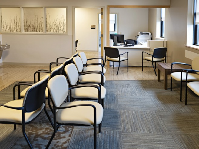 LVHN Cancer Center waiting area at Lehigh Valley Hospital–Schuylkill E. Norwegian Street