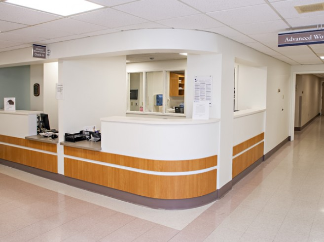Advanced Wound Center entrance at Lehigh Valley Hospital–Schuylkill S. Jackson Street