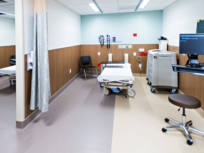 Emergency room exam area at Lehigh Valley Hospital-Schuylkill E. Norwegian Street