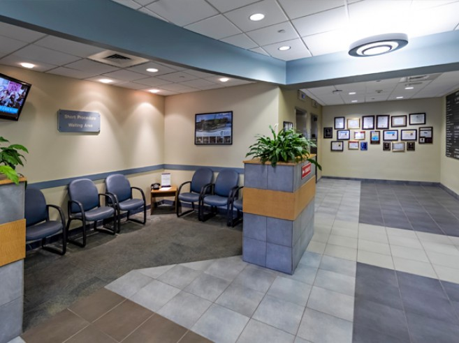 Short procedure waiting room at Lehigh Valley Hospital–Hazleton, located on the first floor
