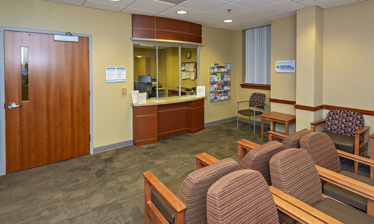 Breast Health Services waiting room, located on the first floor at Lehigh Valley Hospital–17th Street