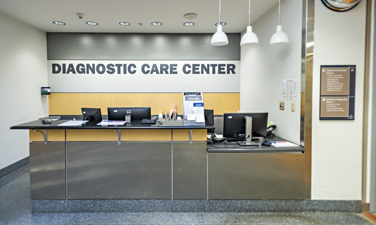 Diagnostic Care Center located on the second floor at Lehigh Valley Hospital–Muhlenberg, main (north) entrance