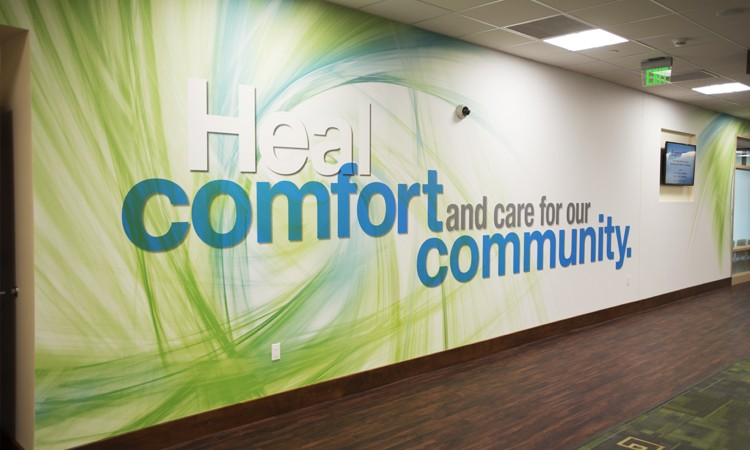 Mission wall, Health Center at Fogelsville