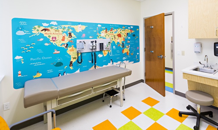 Children's' Wall art with map of the world