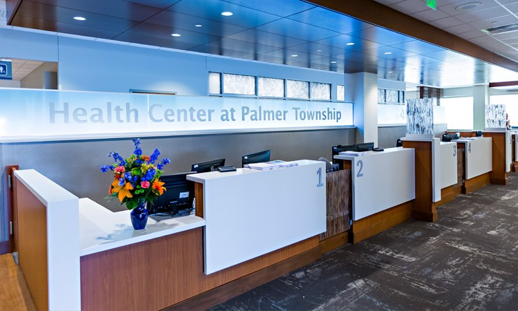 Welcome desk, Health Center at Palmer Township