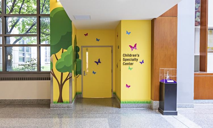 Children's Specialty Center interior entrance at Lehigh Valley Reilly Children's Hospital