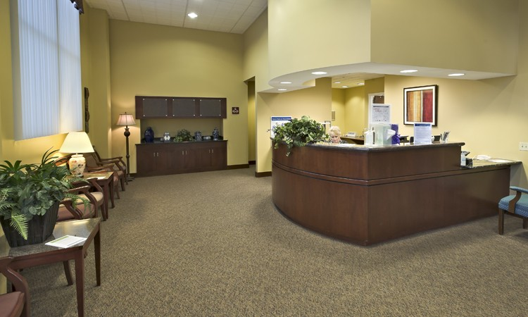 Waiting area at LVHN Surgery Center–Tilghman, located in the 4825 building at LVHN–Tilghman