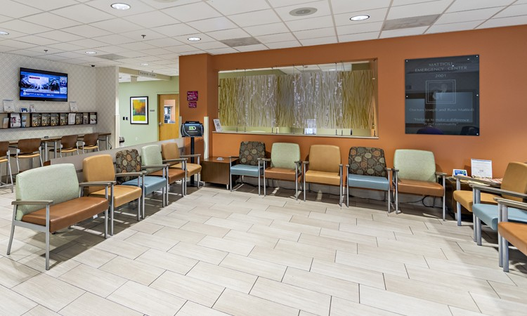 Emergency room waiting area at Lehigh Valley Hospital–Pocono Mattioli Emergency Center