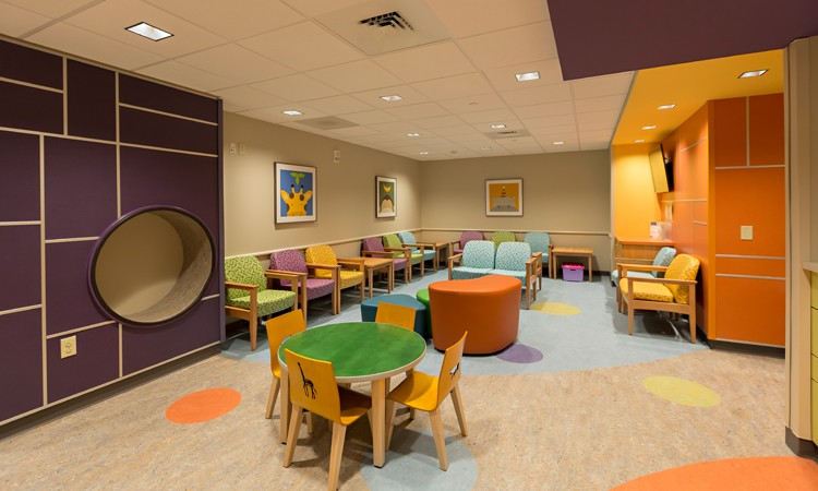 Waiting room, J.B. and Kathleen Reilly Children's Surgery Center