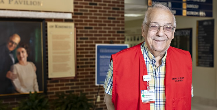 Frank Roccanova is one of our friendly volunteers who can assist you with directions when you visit Lehigh Valley Hospital–Pocono
