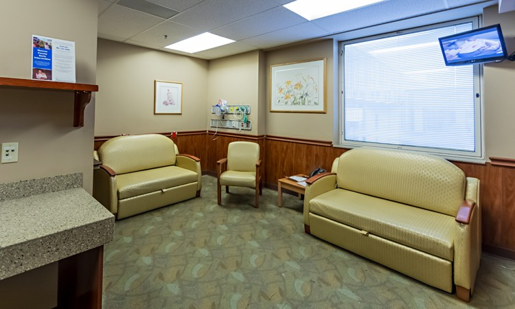 Family room at the Family Birth and Newborn Center–Pocono, located on the second floor, Lehigh Valley Hospital–Pocono