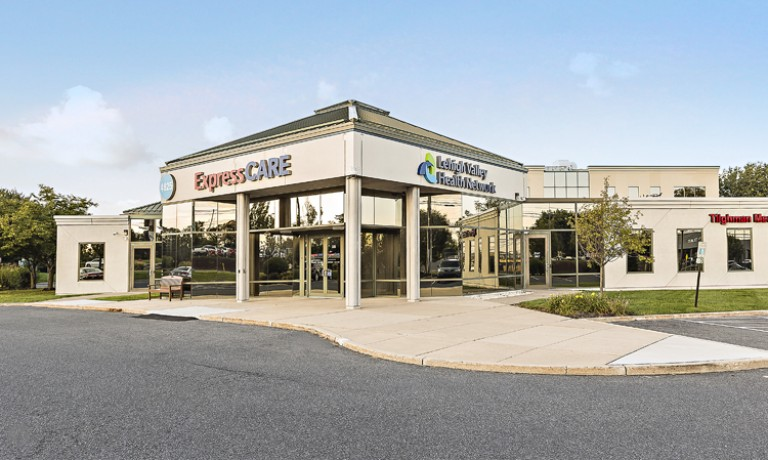 ExpressCARE–Tilghman, our walk-in, no appointment care, located in the 4825 building at LVHN–Tilghman