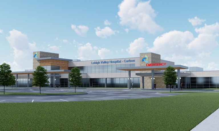 Lehigh Valley Hospital–Carbon rendering