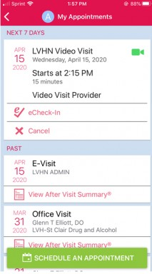 ExpressCARE Video Visit - Schedule - Step 6