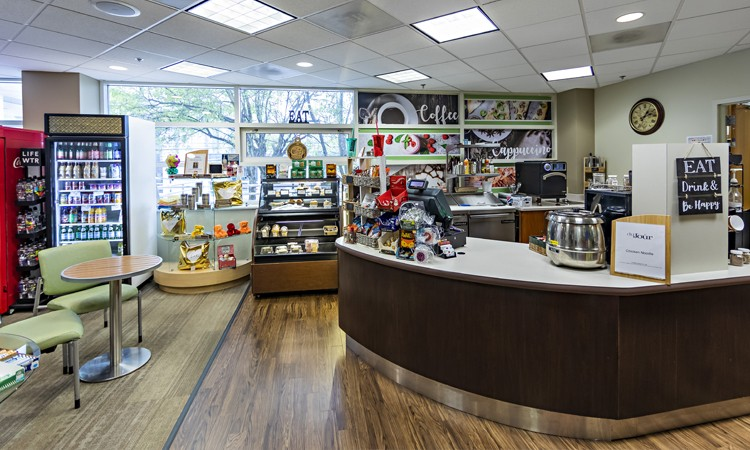 Gift shop and café at Lehigh Valley Hospital–Pocono, located on the first floor