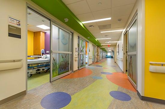The Children's Surgery Center includes 16 private pre-/postoperative rooms.