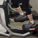 Feet on exercise machine