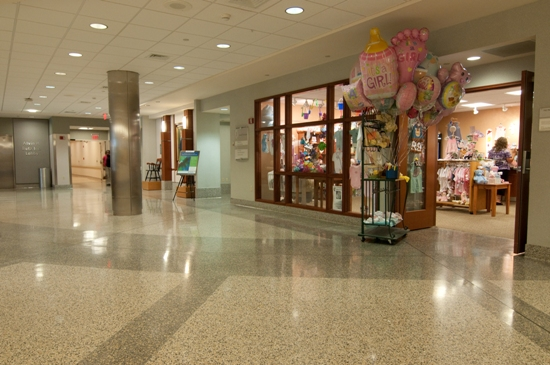 On the right side of the corridor is the exclusive baby gift shop.